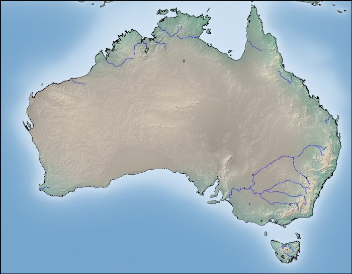 World map of hydrological basins