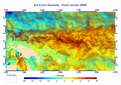 CTOH surface currents in Western Pacific